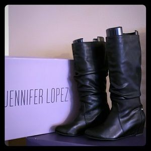 d6fdff47346a9 Jennifer Lopez Shoes - Black Jennifer Lopez wedge boots